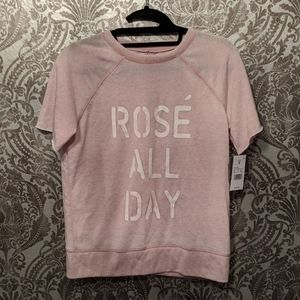 NWT Rosé all day knit short sleeve